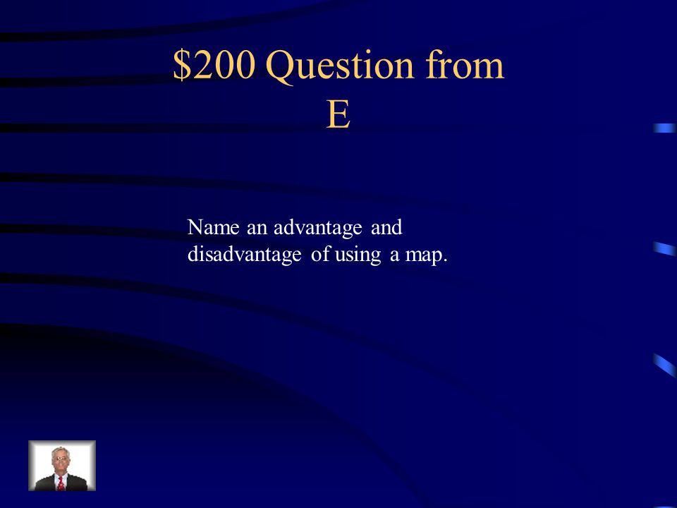 $100 Answer from E Mercator, Homolosine, Robinson