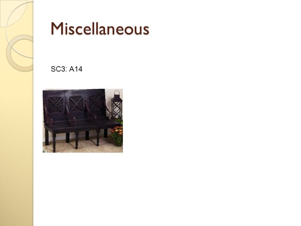 Miscellaneous SC3: A14