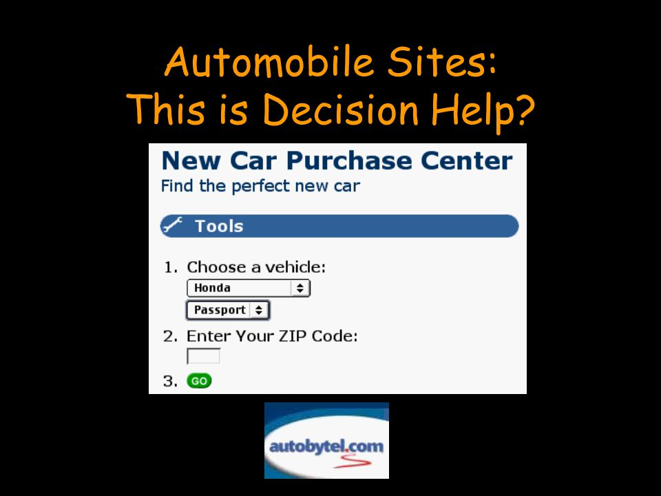 Automobile Sites: This is Decision Help