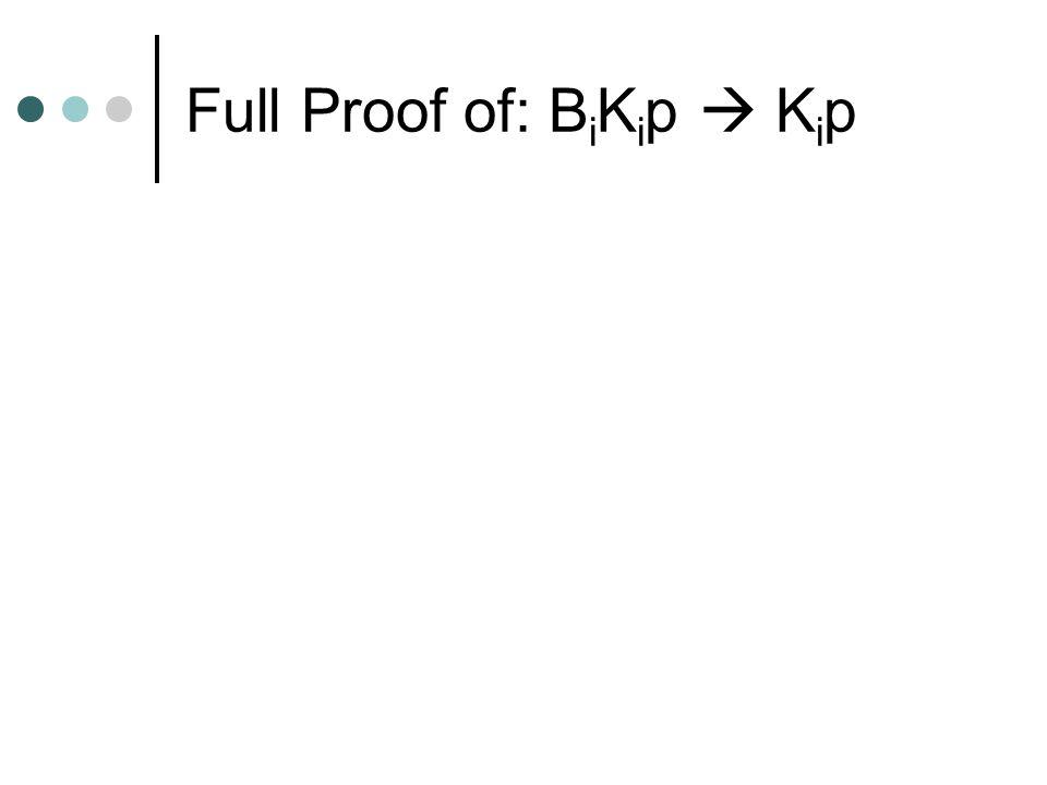 Full Proof of: B i K i p  K i p