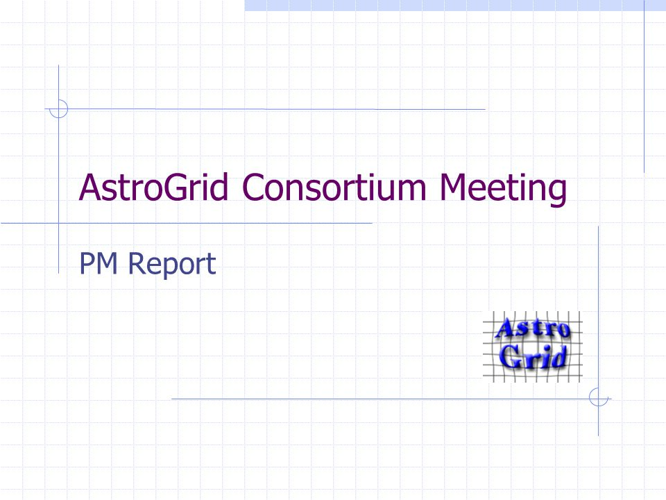 AstroGrid Consortium Meeting PM Report