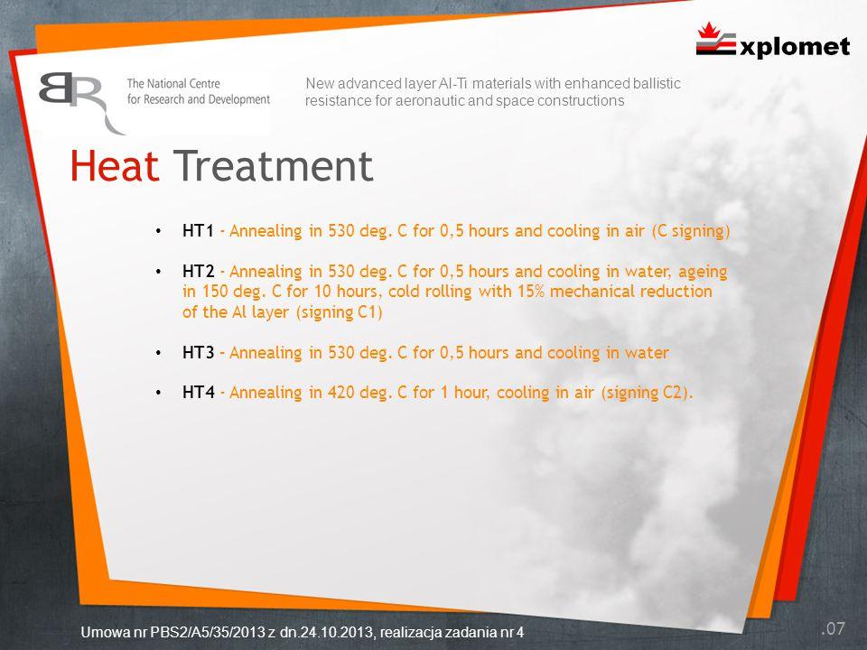 Heat Treatment.07 Umowa nr PBS2/A5/35/2013 z dn.24.10.2013, realizacja zadania nr 4 HT1 - Annealing in 530 deg.