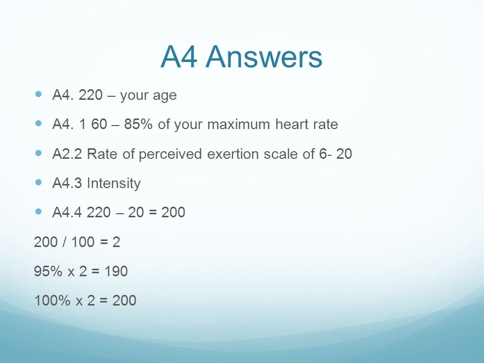 A4 Answers A4.220 – your age A4.