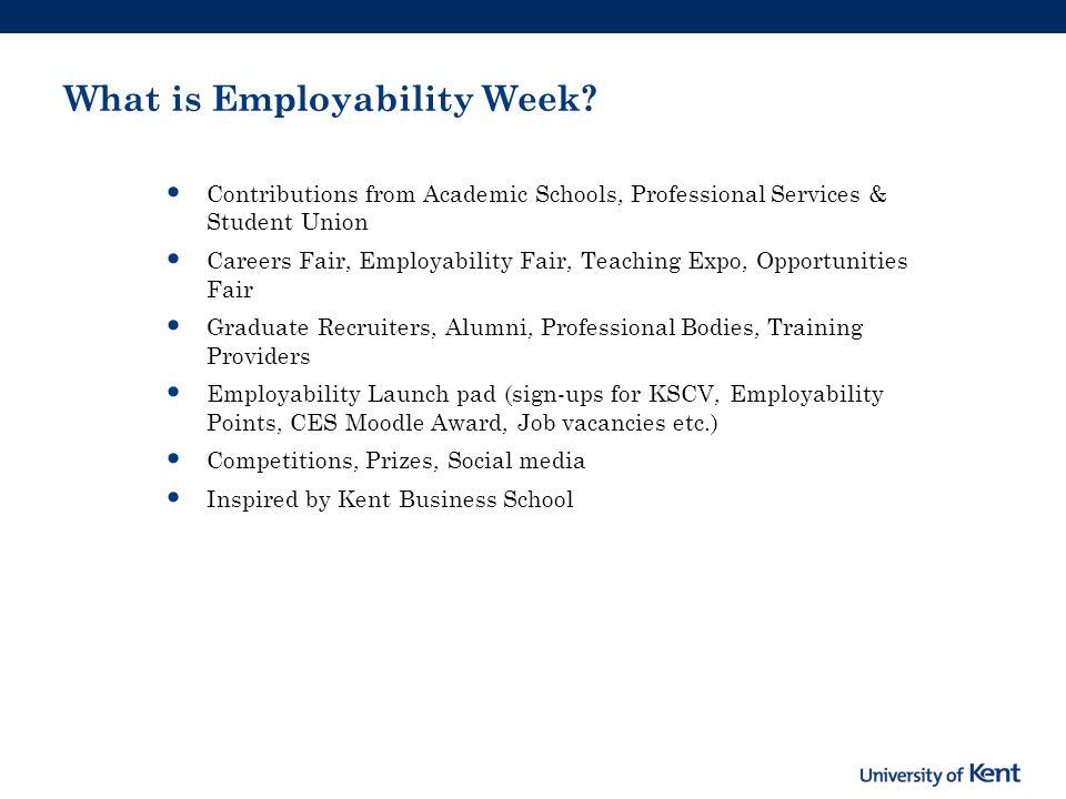Benefits of Employability Week.