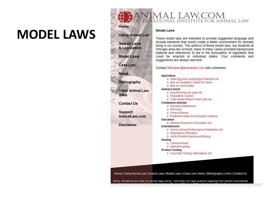MODEL LAWS