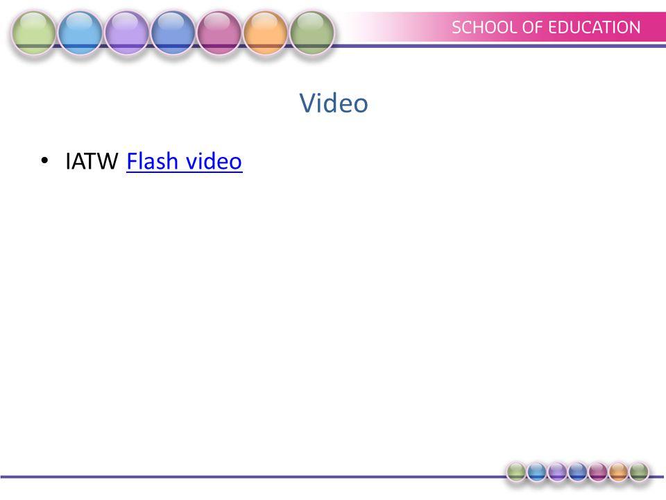 Video IATW Flash videoFlash video