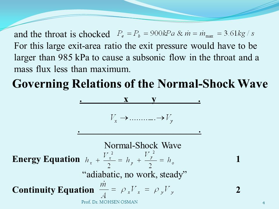 Momentum Equation 3 Equation of state h = h (s & ρ) 4 5 What is meant by Fanno Line .