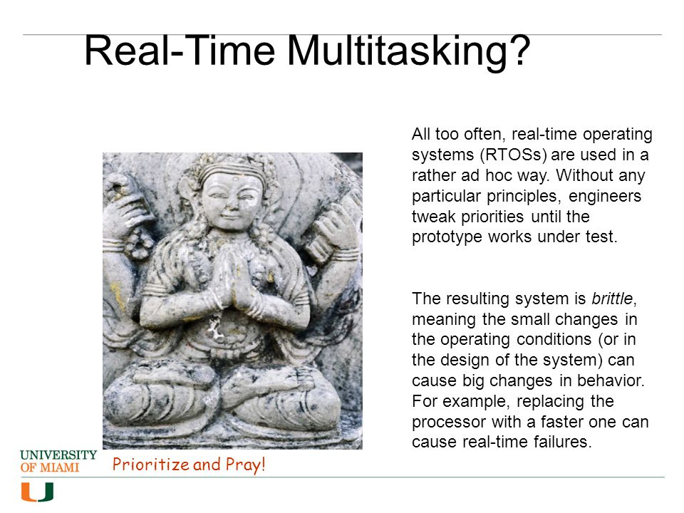 Prioritize and Pray. Real-Time Multitasking.