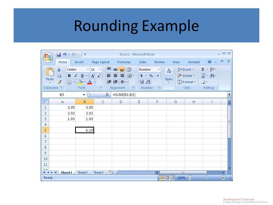 Rounding Example