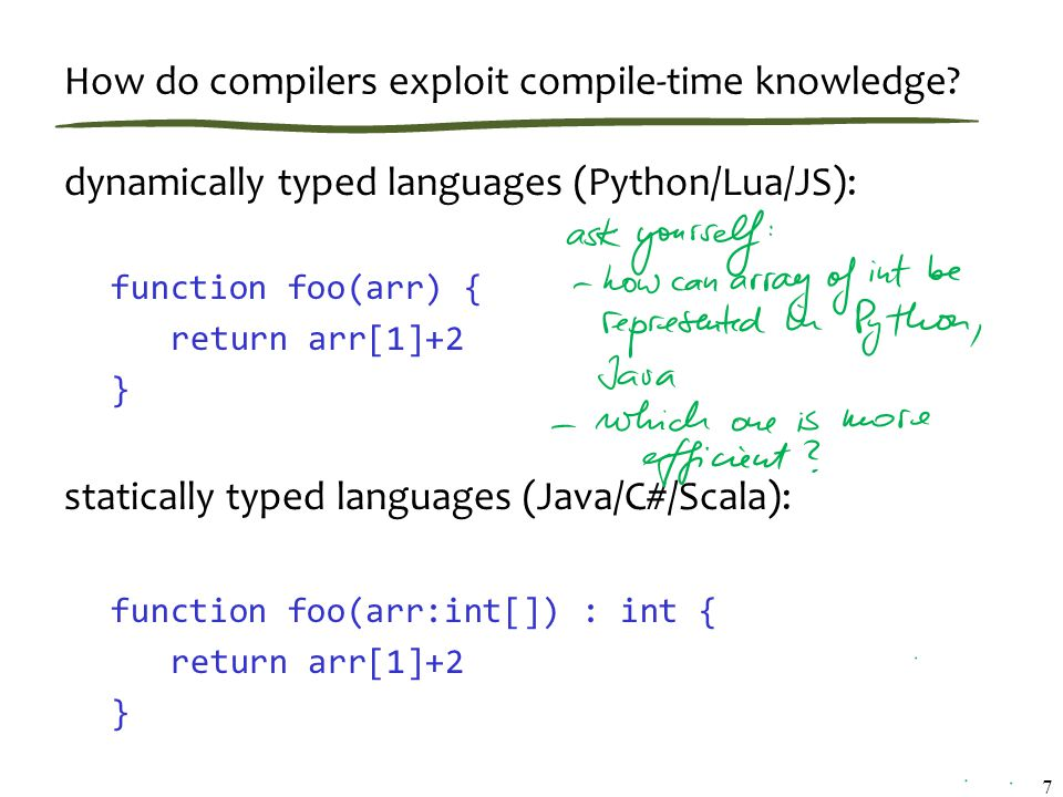 How do compilers exploit compile-time knowledge.