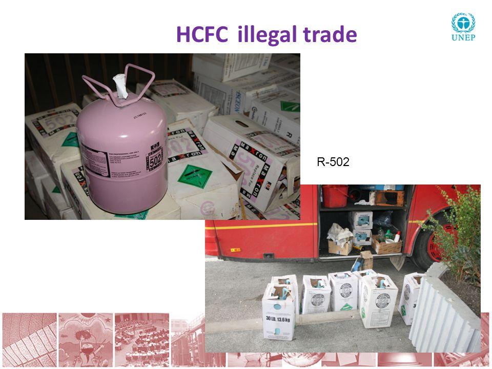 HCFC illegal trade R-502