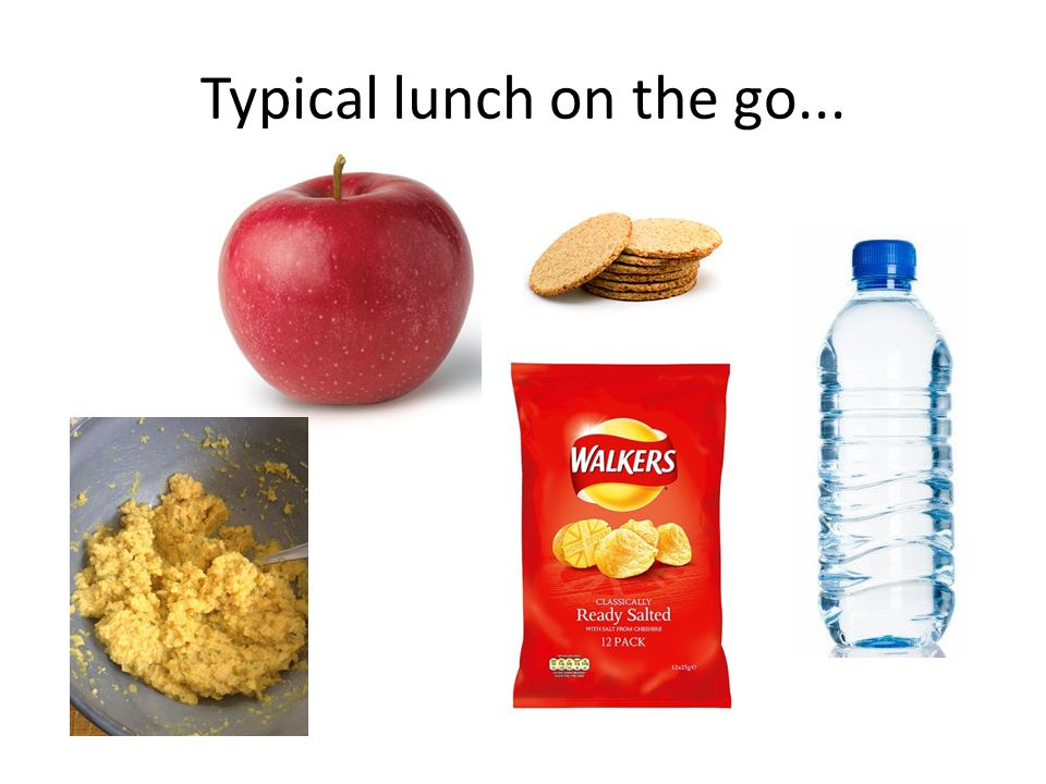 Typical lunch on the go...