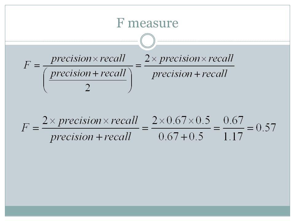 F measure
