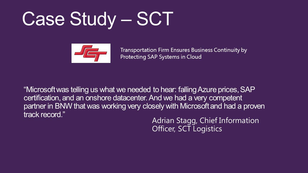 Microsoft was telling us what we needed to hear: falling Azure prices, SAP certification, and an onshore datacenter.
