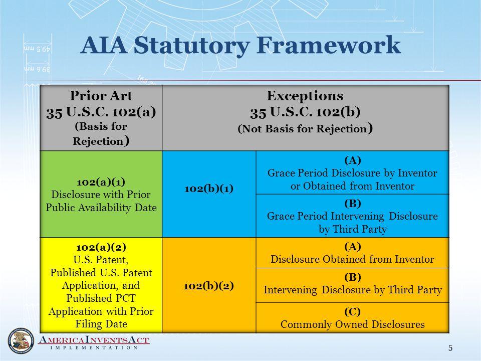 AIA Statutory Framework 5