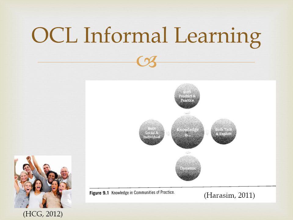  OCL Informal Learning (HCG, 2012) (Harasim, 2011)