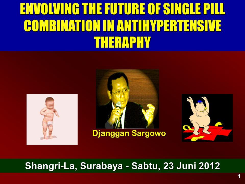 1 ENVOLVING THE FUTURE OF SINGLE PILL COMBINATION IN ANTIHYPERTENSIVE THERAPHY Djanggan Sargowo Shangri-La, Surabaya - Sabtu, 23 Juni 2012