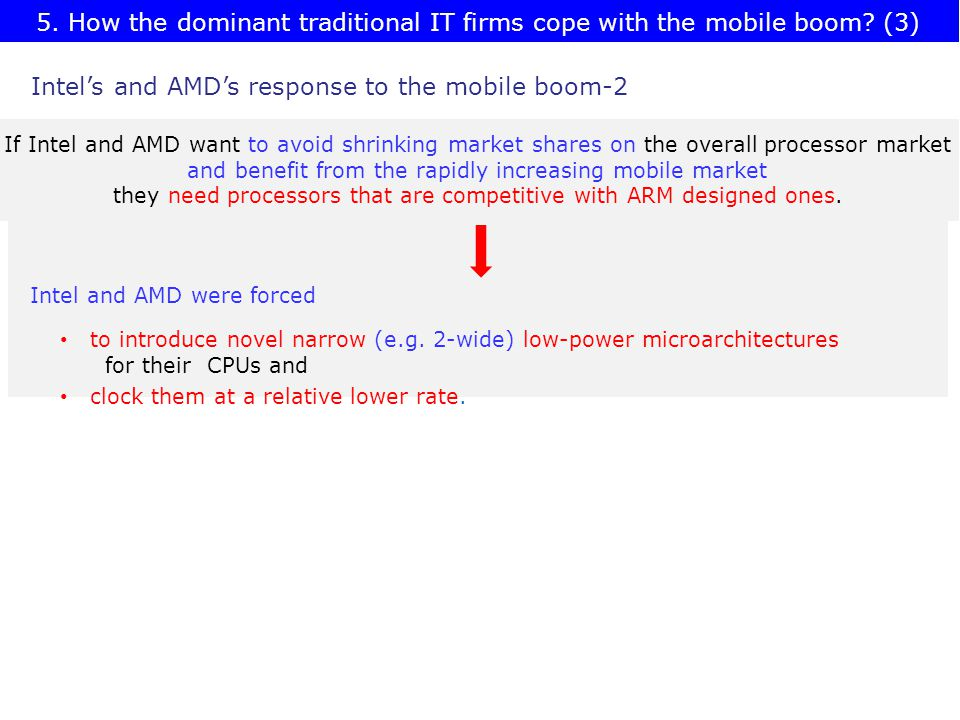 5. How the dominant traditional IT firms cope with the mobile boom.