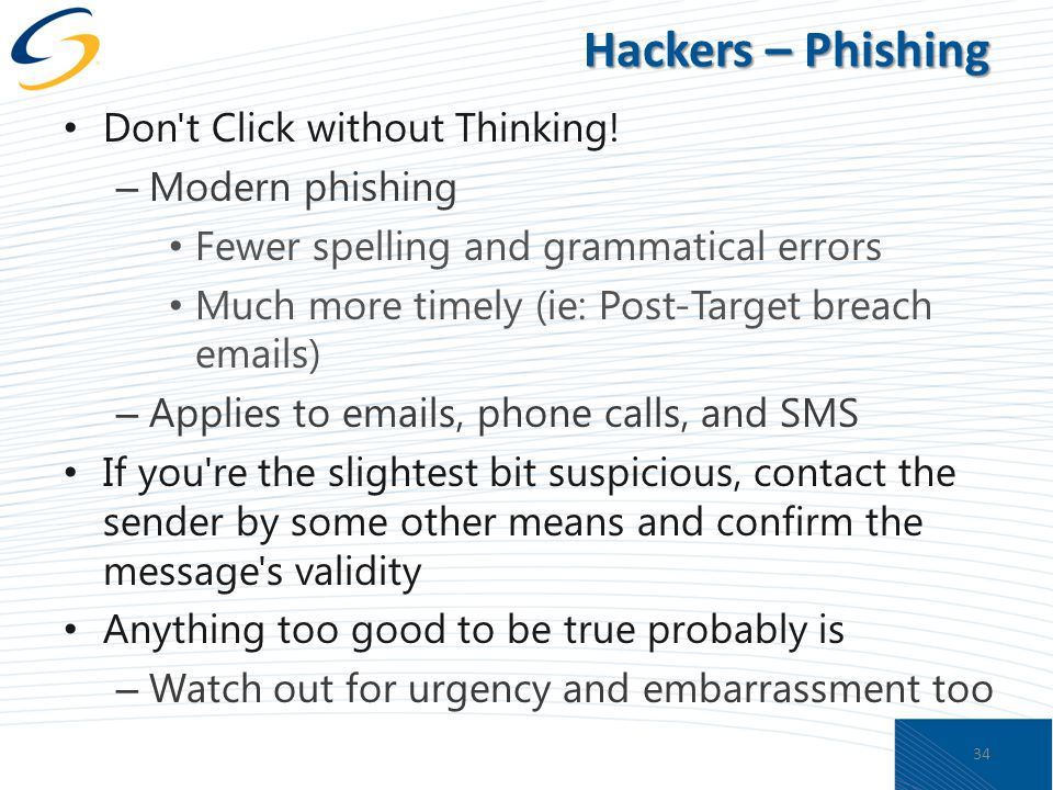 Hackers – Phishing Don t Click without Thinking.