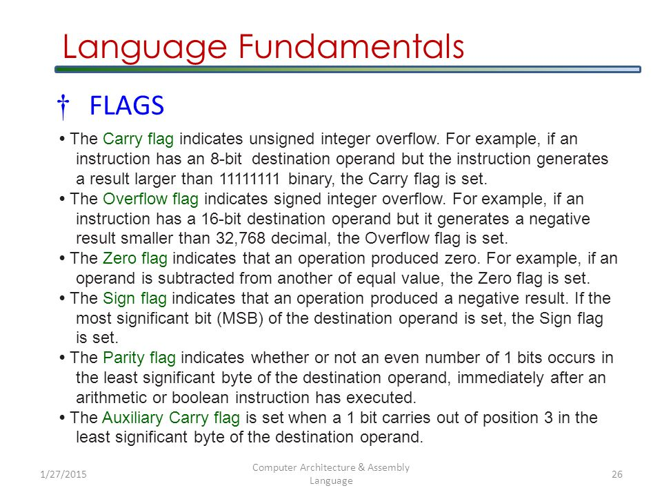 Language Fundamentals Data-Related Operators and Directives  The OFFSET operator returns the distance of a variable from the beginning of its enclosing segment.