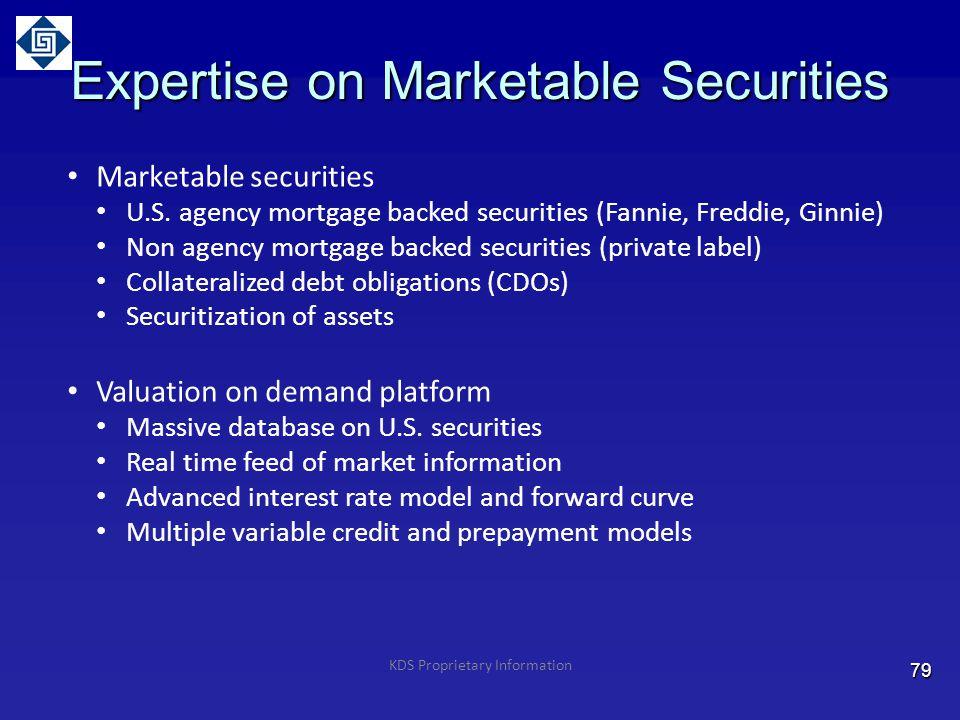 Expertise on Marketable Securities Marketable securities U.S.