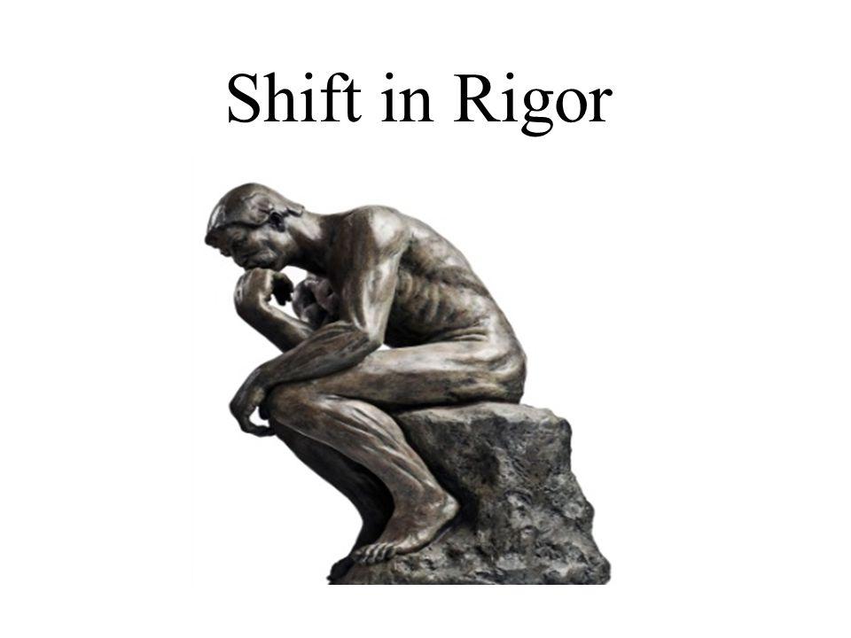 Shift in Rigor
