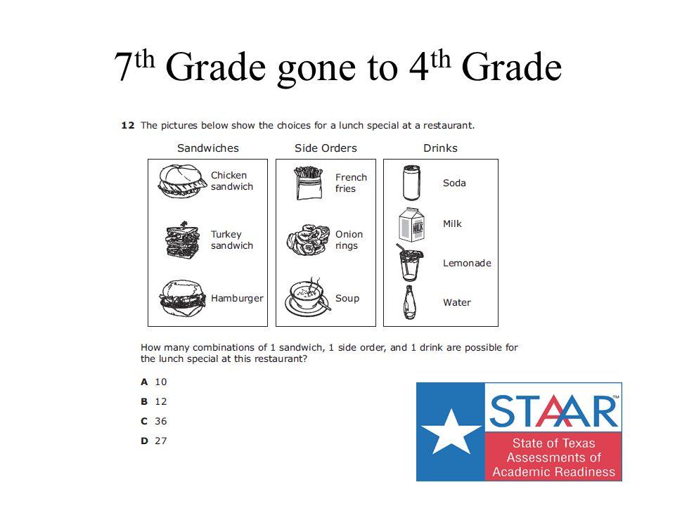 7 th Grade gone to 4 th Grade