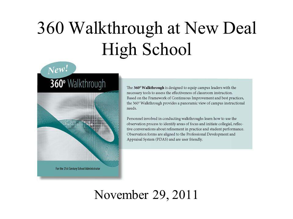 360 Walkthrough at New Deal High School November 29, 2011