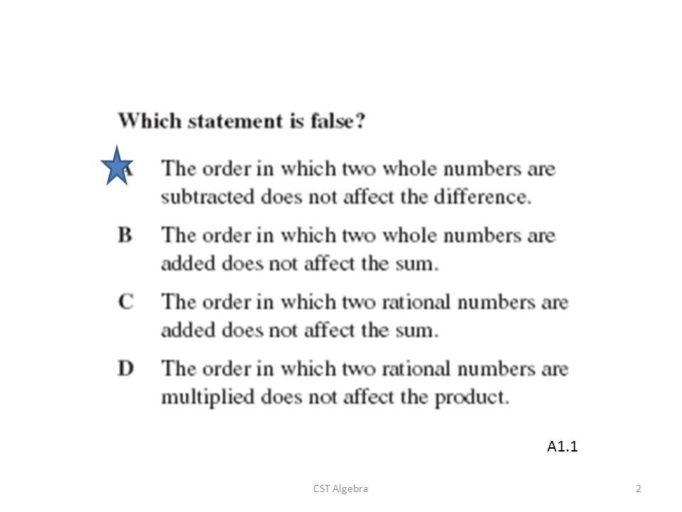 CST Algebra2 A1.1