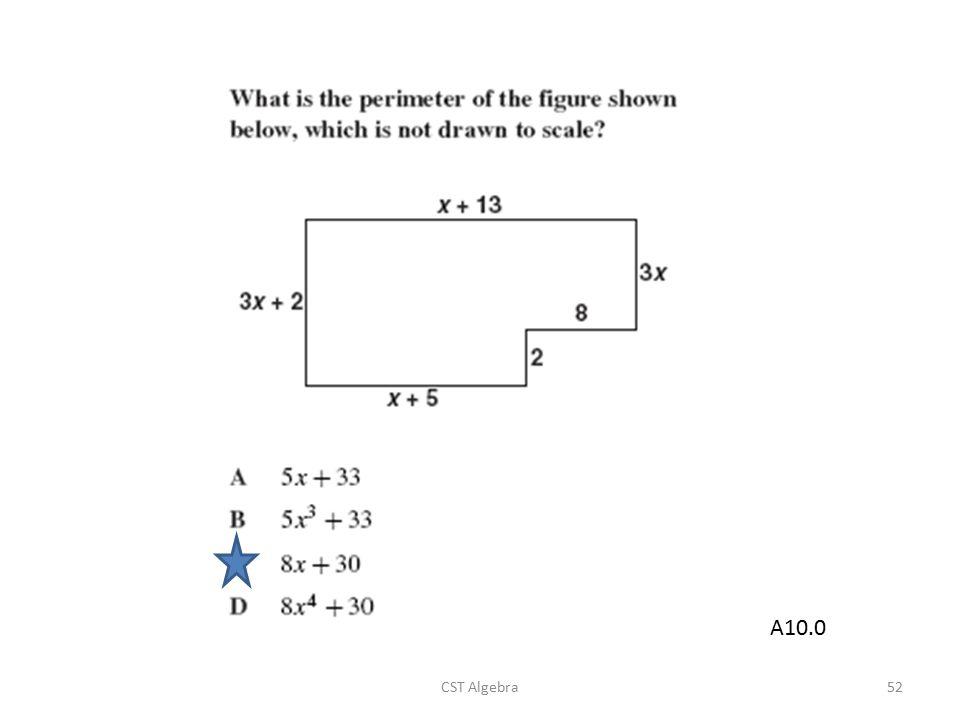 CST Algebra52 A10.0