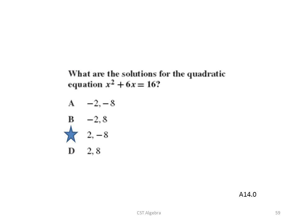CST Algebra59 A14.0