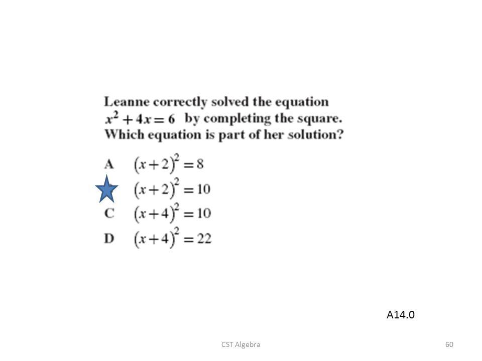 CST Algebra60 A14.0