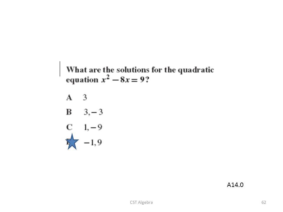 CST Algebra62 A14.0