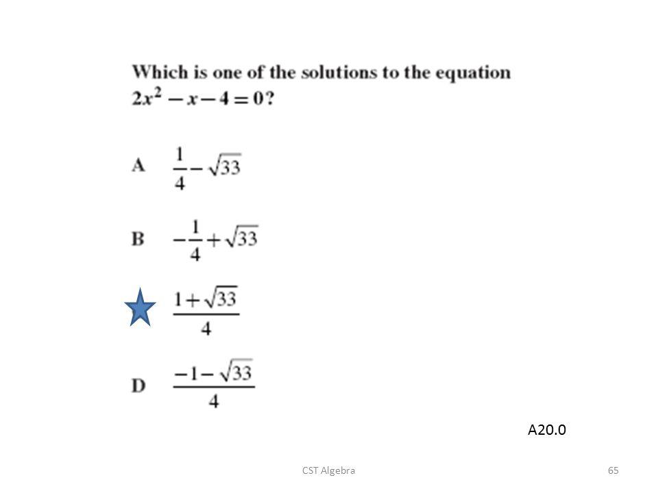 CST Algebra65 A20.0