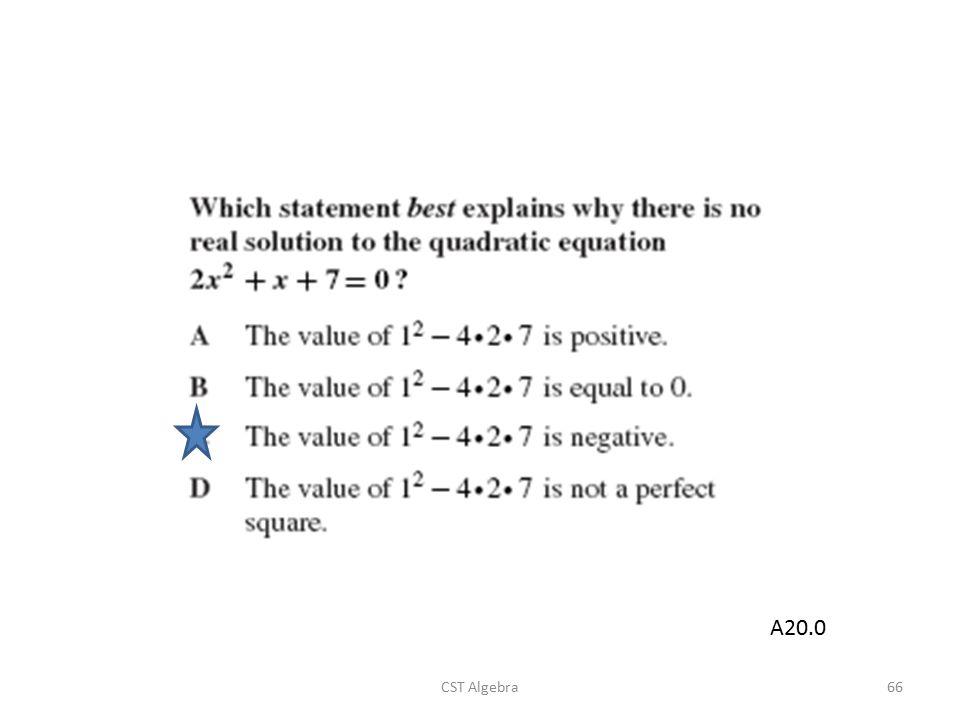 CST Algebra66 A20.0