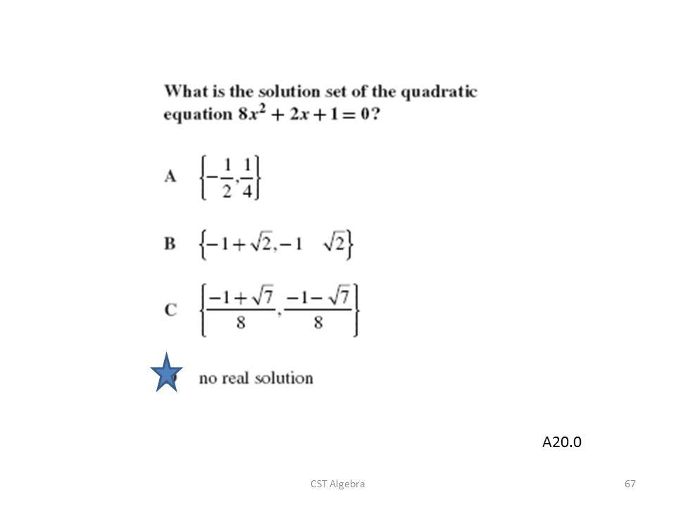 CST Algebra67 A20.0