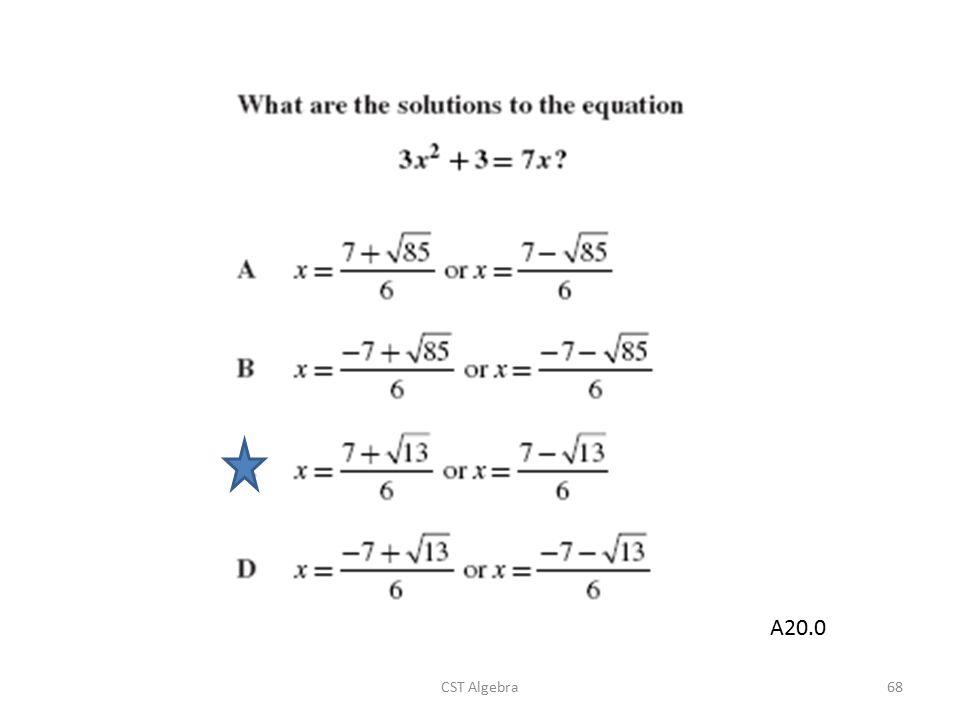 CST Algebra68 A20.0