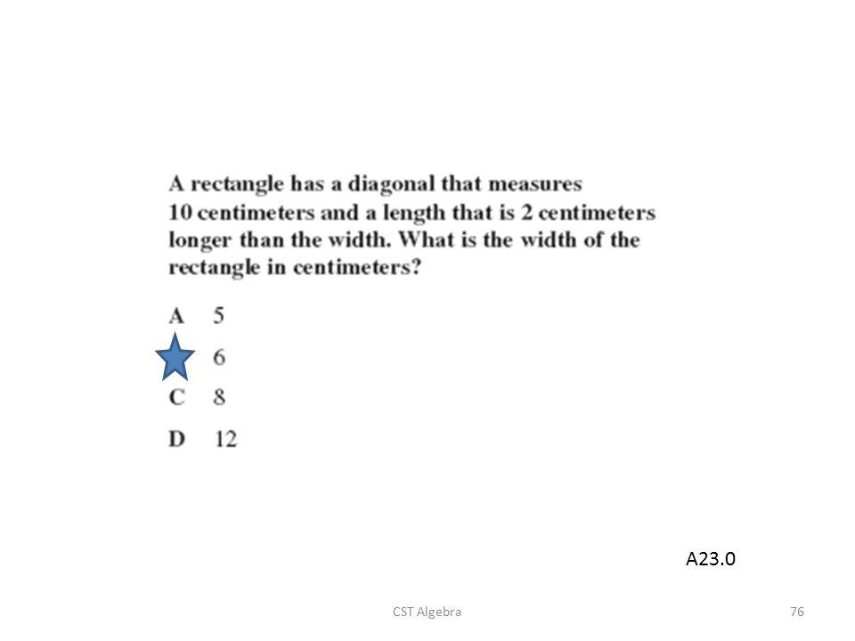 CST Algebra76 A23.0