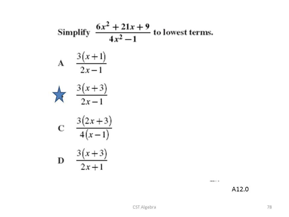 CST Algebra78 A12.0
