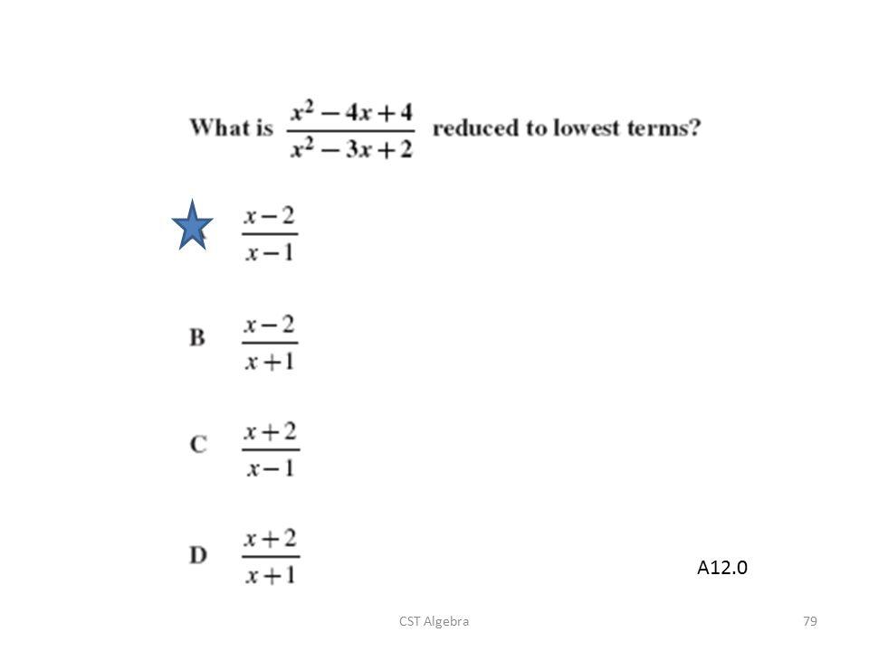 CST Algebra79 A12.0