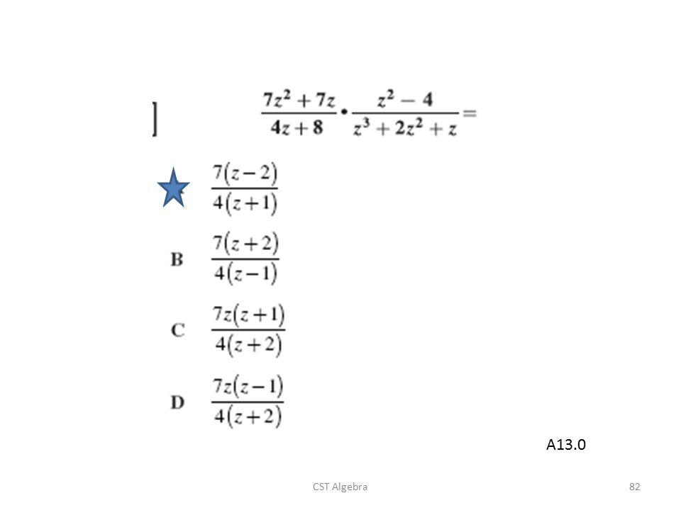 CST Algebra82 A13.0