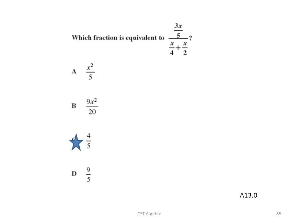 CST Algebra85 A13.0
