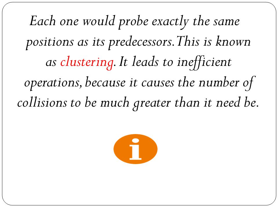 Each one would probe exactly the same positions as its predecessors.