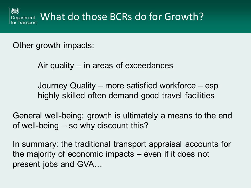 What do those BCRs do for Growth.