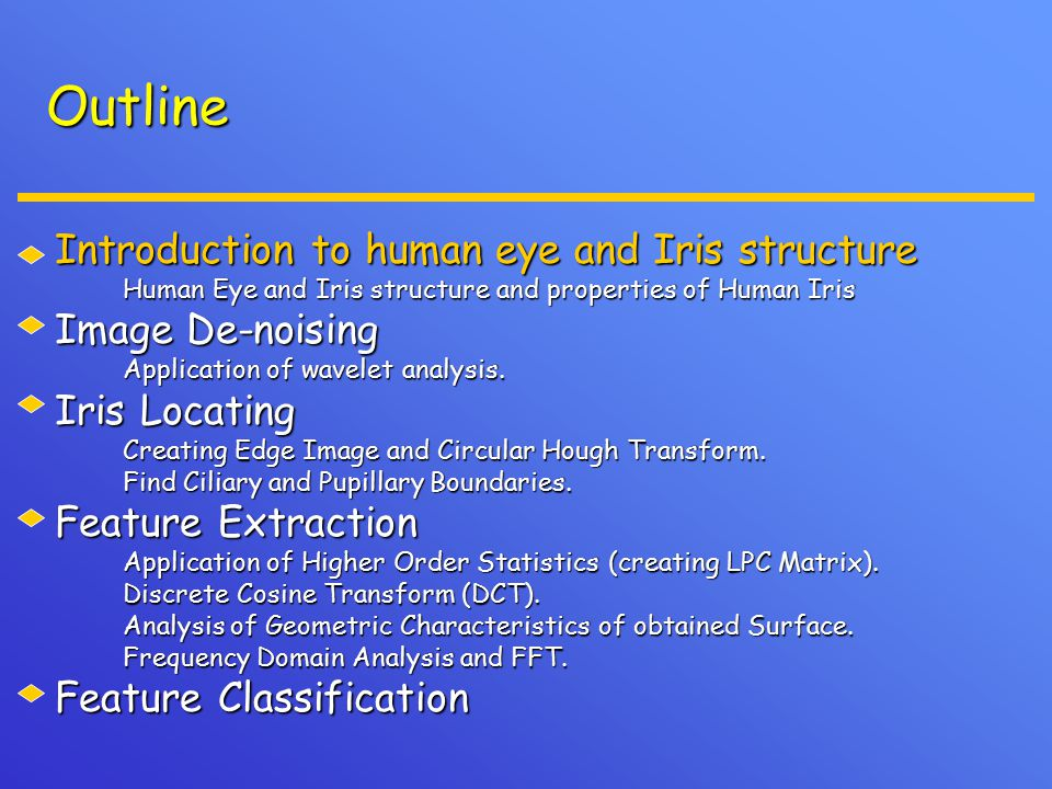 Analysis of geometric characteristics of CDCT 1.Applying Circular DCT, we obtain a high dimensional data set.