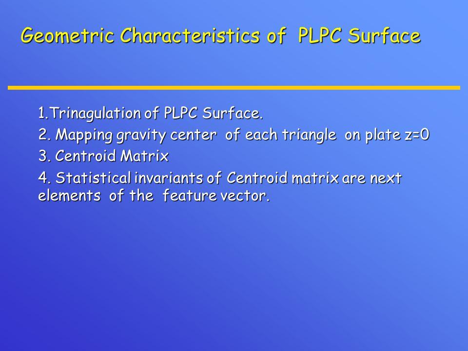 Geometric Characteristics of PLPC Surface 1.Trinagulation of PLPC Surface.
