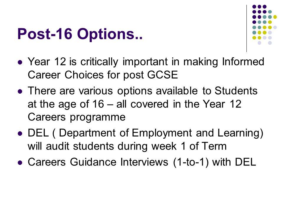 Post-16 Options..