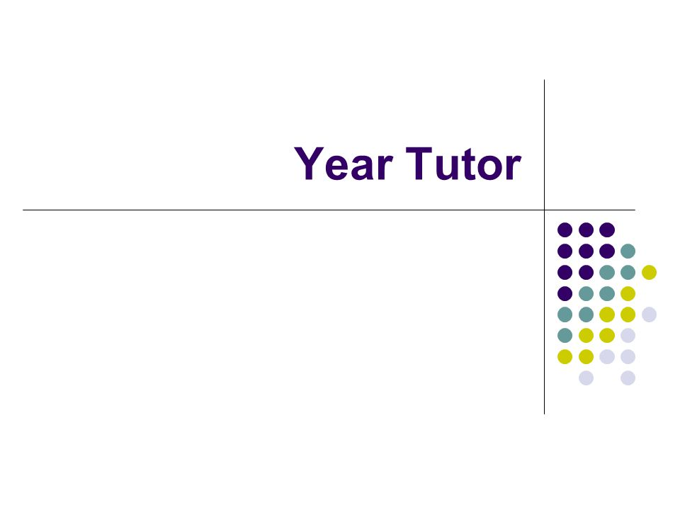 Year Tutor