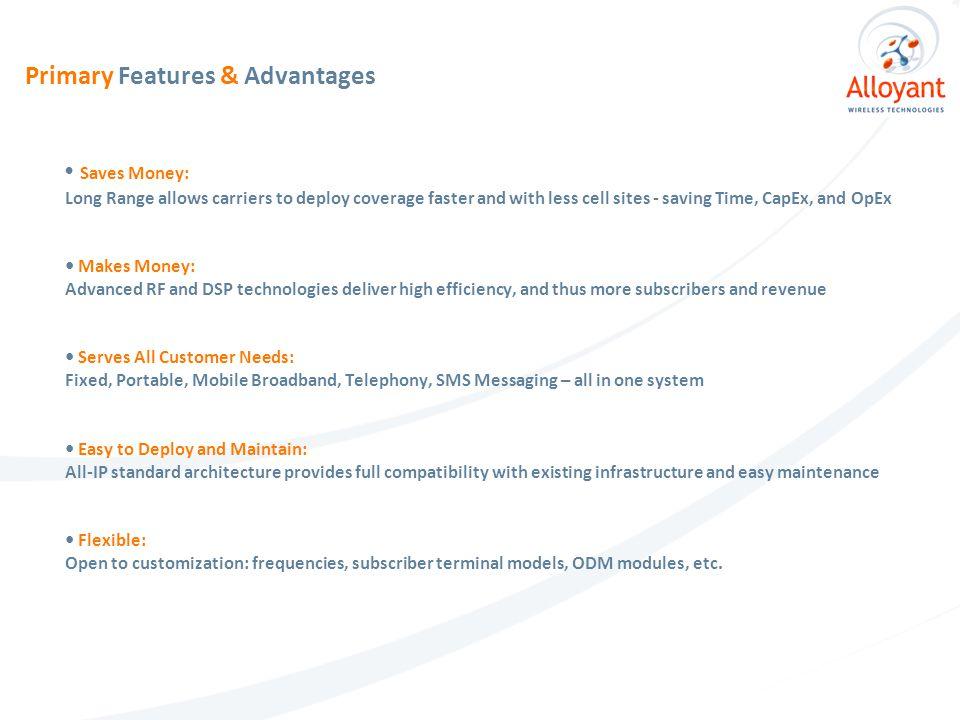 Advanced Technology: Hybrid CDMA + OFDMA Air Interface StreamStar  uses an optimal combination of two most popular wireless technologies - CDMA and OFDMA.