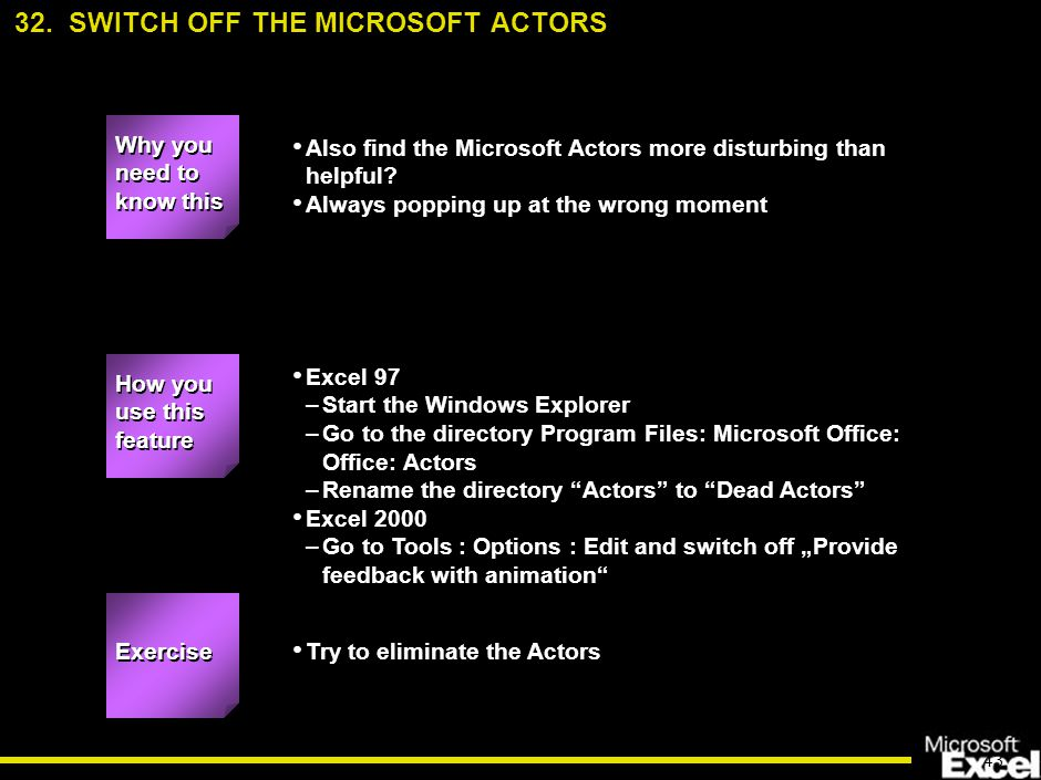 43 Also find the Microsoft Actors more disturbing than helpful.